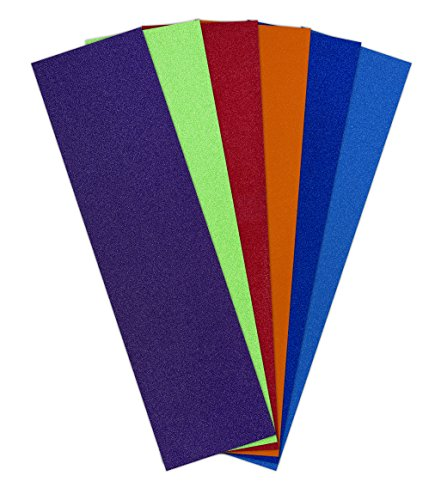 Skateboard Griptape, Rad Colors, 9″ x 33″ Sheets of Dark Blue/Purple/Light Blue/Orange/Red/Neon Green