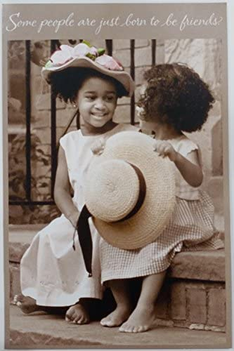 Some people are just born to be friends – I'm so glad you're mine Greeting Card for Her – Friendship BFF (Black / African American)