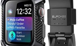 SUPCASE [Unicorn Beetle Pro] Case for Apple Watch 4 / Watch 5 [44mm], Rugged Protective Case with Strap Bands for Apple Watch Series 4 2018 / Series 5 2019 Edition (Black)