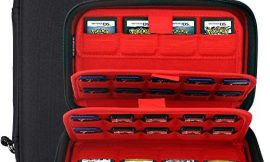 Switch Game Case for Nintendo Switch Cartridges 72 in 1 Game Slots Protective Hard Storage Carrying Organizer Holders Bag for Nintendo 3DS/2DS DS PS Vita Micro SD Memory Cards (Black)