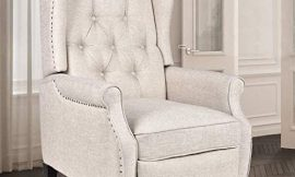 Grepatio Wingback Recliner Chair – Massage Heated Recliner Chair with Remote Control, Single Sofa Mid-Century High Back Accent Chair Tufted Chair
