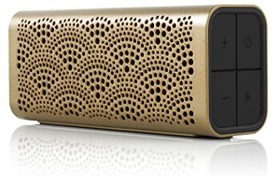 Braven BLUXLBP LUX Portable Wireless Bluetooth Speaker [12 Hr Playtime][Water Resistant] Built-in 1400 mAh Power Bank Charger – Gold