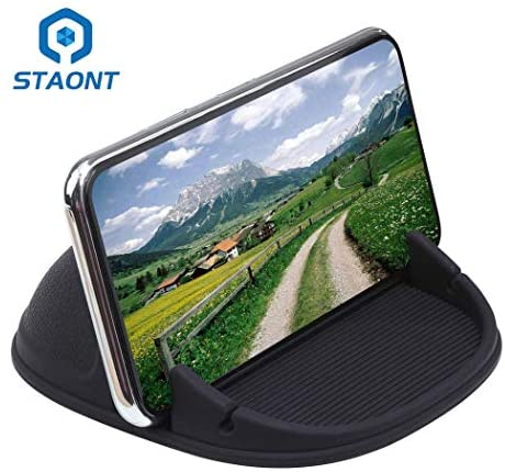 Car Phone Holder, Staont Anti-Slip Silicone Dashboard Car Pad Compatible with iPhone, Samsung, Android Smart Phones, GPS, KGs3 and More