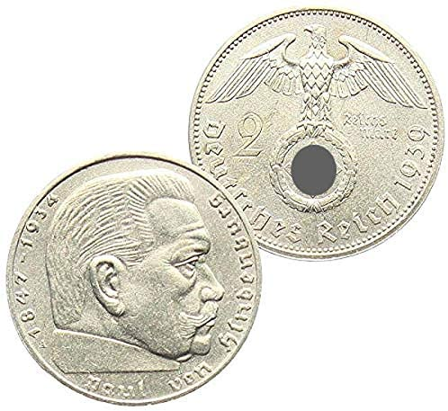 Germany Third Reich 1939A (Or rarer Mint Mark and Date)  Reichsmark — Nazi WW II Silver