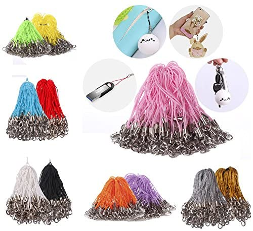 Mini-Factory Mix-Colors Mobile Cell Phone Cords Strap Lariat with Lobster Clasp (Mix-Colors)