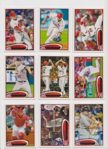 St Louis Cardinals / (3) Complete 2012 Topps Baseball Team Sets including Series 1 & 2