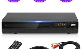 DVD Player for TV, DVD CD Player with HD 1080p Upscaling, HDMI & AV Output (HDMI & AV Cable Included), All-Region Free, Coaxial Port, USB Input, Remote Control
