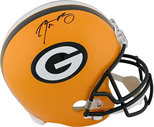 Aaron Rodgers Green Bay Packers Autographed Riddell Replica Helmet – Fanatics Authentic Certified – Autographed NFL Helmets