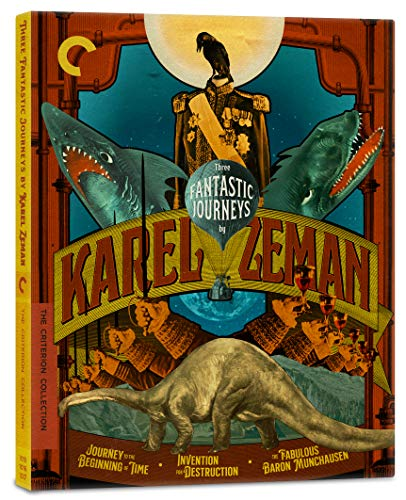 Three Fantastic Journeys by Karel Zeman (Journey to the Beginning of Time/Invention for Destruction/The Fabulous Baron Munchausen)(The Criterion Collection) [Blu-ray]