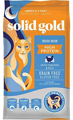 Solid Gold – Indigo Moon – High Protein & Grain-Free – Holistic Dry Cat Food for All Life Stages