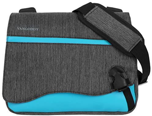 Vangoddy Wave Anti-Theft Sky Blue Messenger Bag for Amazon Fire Tablets and Kindle e-Readers Up to 10.8inch
