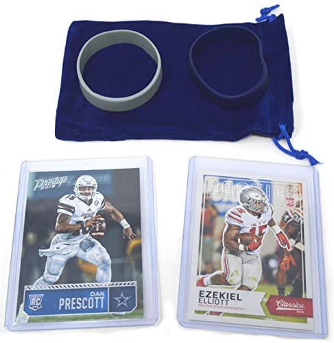 Dak Prescott & Ezekiel Elliot Rookie Cards Assorted 2 Bundle. 1 Each – Dallas Cowboys Football Trading Cards – Both 2016 RCs