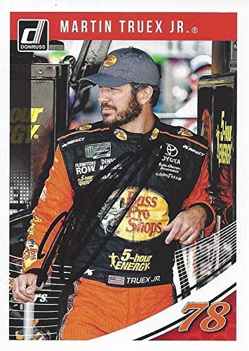 AUTOGRAPHED Martin Truex Jr. 2019 Panini Donruss Racing (#78 Bass Pro Shops Team) Monster Cup Series Signed NASCAR Collectible Trading Card with COA