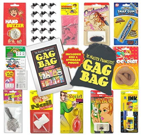 TASS The Master Prankster's Gag Bag Series One Prank Kit, Box, Pack, Gift, Set Funny Classic & New Novelties Jokes