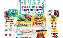 Woodstock Candy ~ 1957 63rd Birthday Gift Box of Nostalgic Retro Candy from Childhood for 63 Year Old Man or Woman Born 1957