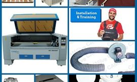 CAMFive Laser CO2 Double Tube Cutter & Engraver CMA6348T Working Area 63×48″ Machine for Cutting and Engraving Wood, Acrylic, Fabric and More. Advance Package