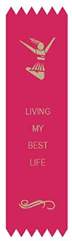 Adulting FTW Living My Best Life Adulting Award Ribbon on Gift Card 1 5/8″ x 6″