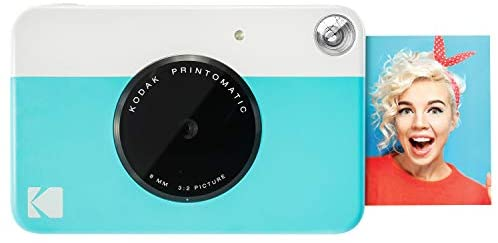 Zink KODAK Printomatic Digital Instant Print Camera (Blue), Full Color Prints On ZINK 2×3 Sticky-Backed Photo Paper – Print Memories Instantly