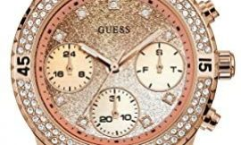 GUESS Factory Rose Gold-Tone Silicone Multifunction Watch