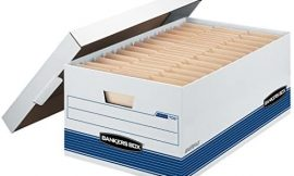 Bankers Box STOR/FILE Medium-Duty Storage Boxes, FastFold, Lift-Off Lid, Legal, 4 Pack (0070205)