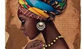 PENGDA Canvas Wall Art Home Decoration African Black Woman Pictures Wall Artwork HD Printed Nordic Style for Living Room