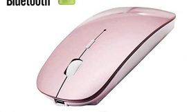 Rechargeable Bluetooth Mouse for Mac Laptop Wireless Bluetooth Mouse for MacBook Pro MacBook Air Windows Notebook MacBook (Rose Gold)