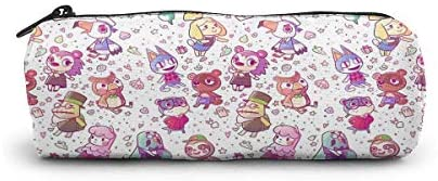 Pencil Bag Animal Crossing Cosmetic Bag, Large Capacity Students Stationery Pouch, Portable Pencils Pens Pouch for School & Office Supplies