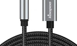 USB C to 3.5mm Audio Aux Jack Cable, KOOPAO Type C Adapter to 3.5mm Headphone Stereo Cord Car Compatible with Pad Pro 2018 Google Pixel 2 3 4XL Moto Z and Galaxy Note10+ Huawei HTC (3.28Ft)