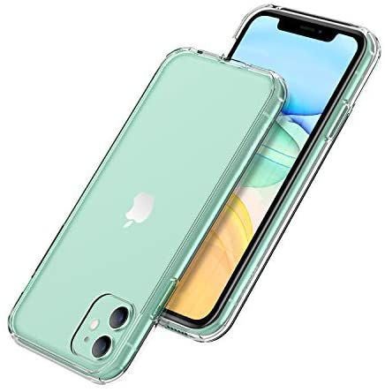 Unique Gadgets & Toys iPhone 11 Case, Clear Shockproof Anti-Watermark Dual Layer Hard PC + TPU Bumper Cover for iPhone 11 Cases 6.1 inch 2019