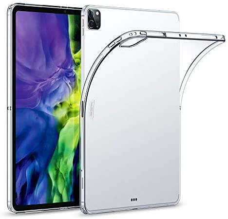 ESR Rebound Soft Shell Case for iPad Pro 11 2020 & 2018, Clear TPU Back Cover, Supports Pencil Wireless Charging Slim-Fit Shell Case, for iPad Pro 11″, Translucent