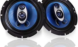 """6.5″ Three-Way Sound Speaker System – 180 W RMS/360W Power Handling w/ 4 Ohm Impedance and 3/4"""" Piezo Tweeter for Car Component Stereo, Round Shaped Pro Full Range Triaxial Loud Audio – Pyle PL63BL"""