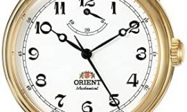 Orient Men's 'Monarch' Mechanical Hand Wind Stainless Steel and Leather Dress Watch