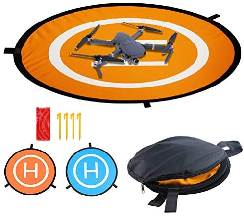 """Drones Landing Pad, Universal Waterproof D 75cm/30"""" Portable Foldable Landing Pads for RC Drones Helicopter, Drones 2/3/4/"""