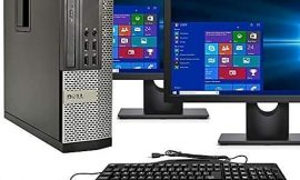 Dell Optiplex 9020 SFF Computer Desktop PC, Intel Core i5 Processor, 16GB Ram, 2TB Hard Drive, WiFi, Bluetooth 4.0, DVD-RW, Dual 24 Inch LCD Monitors Windows 10 Pro (Renewed)
