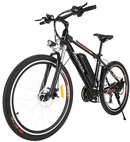 """ANCHEER 2019 Pro Electric Mountain Bike, 26"""" Electric Bicycle with Removable 12.5AH Lithium-Ion Battery for Adults, 500W Hub Motor and 21 Speed Shifter"""