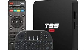 Android 10.0 TV Box T95 Super TV Box Allwinner H3 Quad-Core 2GB RAM 16GB ROM Support WiFi 2.4GHz 3D 4K H.265 Smart Android TV Box Media Player with Wireless Keyboard Remote