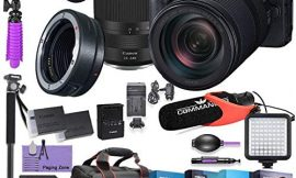 Canon EOS RP Mirrorless Digital Camera with RF 24-240mm Lens & Mount Adapter EF-EOS R kit Bundled w/Deluxe Accessories – Commander Pro Mic, High Speed Flash, 4-Pack Photo Editing Software & More
