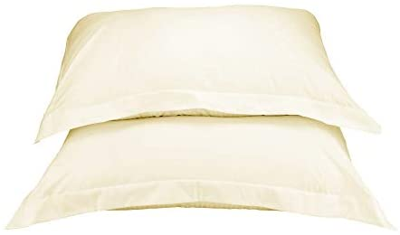 La Vie Moderne Premium 1800 Thread Count Microfiber Pillow Shams | Set of 2 | Ivory | Queen