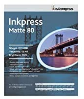 Inkpress Duo Matte 80 Inkjet Paper, 215 GSM Weight, 12 mil Thickness, 95% Brightness, Double Sided, 11×17″, 100 Sheets