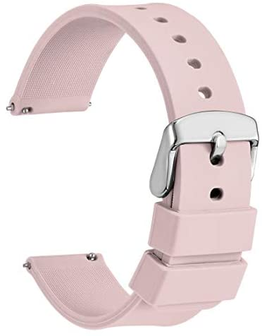 WOCCI Silicone Watch Bands – Quick Release Soft Rubber Replacement Straps (14mm 18mm 20mm 22mm 24mm)
