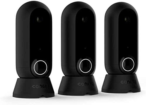 Canary: Flex 3 Camera Pack + 1-Year Plan   Indoor Outdoor WiFi HD Home Security   Night Vision, Weatherproof, Wireless/Plug in, Flexible, Motion Alerts (Alexa, iOS, Google, Android), Black