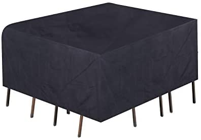 Fuloon Patio Furniture Cover Waterproof Large Outdoor Table Chair Sofa Cover 420D Oxford Cloth for Garden