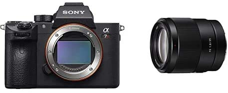 Sony a7R III Mirrorless Camera: 42.4MP Full Frame High Resolution Interchangeable Lens Digital Camera with 35mm F1.8 Lens