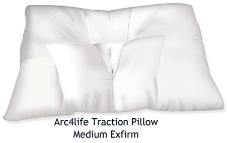 Arc4life Neck Support Cervical Pillow for Sleeping -Standard Firm Bed Pillows for Side and Back Sleeper for Neck and Shoulder Pain (Traction Medium 24″x17″ Xfirm Pillow)