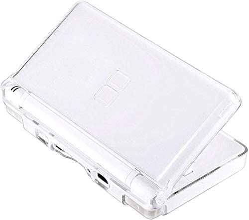 Transparent Hard Shell Case Cover Compatible with Nintendo DS Lite NDSL, Replacement Protective NDS Lite Crystal Clear Housing Case