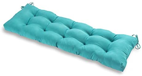 Greendale Home Fashions AZ5812-TEAL Arctic 51-inch Outdoor Bench Cushion