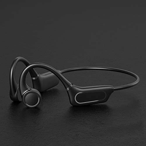 Wireless Bluetooth Headset, Bt5.0 Bone Conduction, Noise Reduction, Touch, Waterproof, Compatible with iOS and Android Devices and Other Bluetooth Devices (Color : Black)