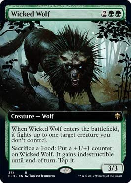 Magic: The Gathering – Wicked Wolf – Extended Art – Throne of Eldraine