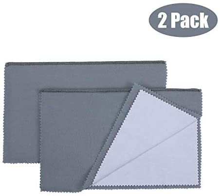 2 Pack Polishing Cloth Large Jewelry Cleaning Cloths| 100% Cotton for Gold Silver and Platinum Jewelry Coins Watches and Silverware| Tarnish Remover| Keep Jewelry Shining