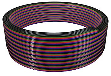 BTF-LIGHTING 18AWG LED Strip Light Ribbon Wire RGB Extension Cable 4 Pin 32.8ft/10m Connection 4 Core Cord Line for Color Changing Flexible 5050 3528 LED Tape